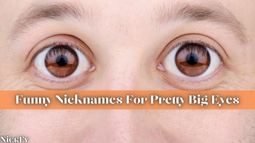 Funny Cute Nicknames For People With Big Eyes