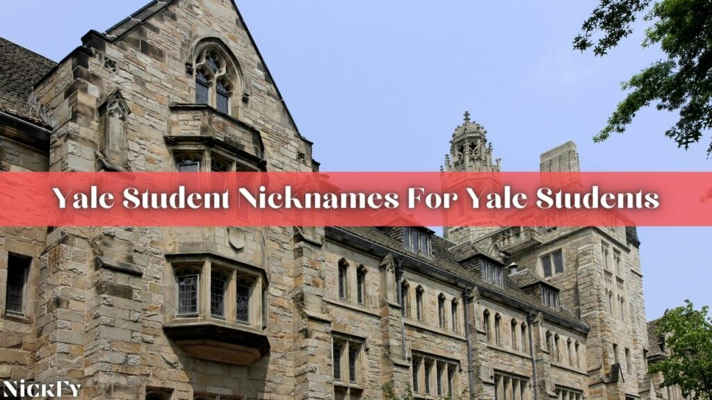 Yale Student Nicknames For Yale Students